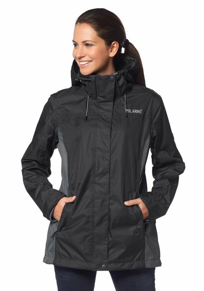 Polarino 3-in-1-Funktionsjacke in Schwarz