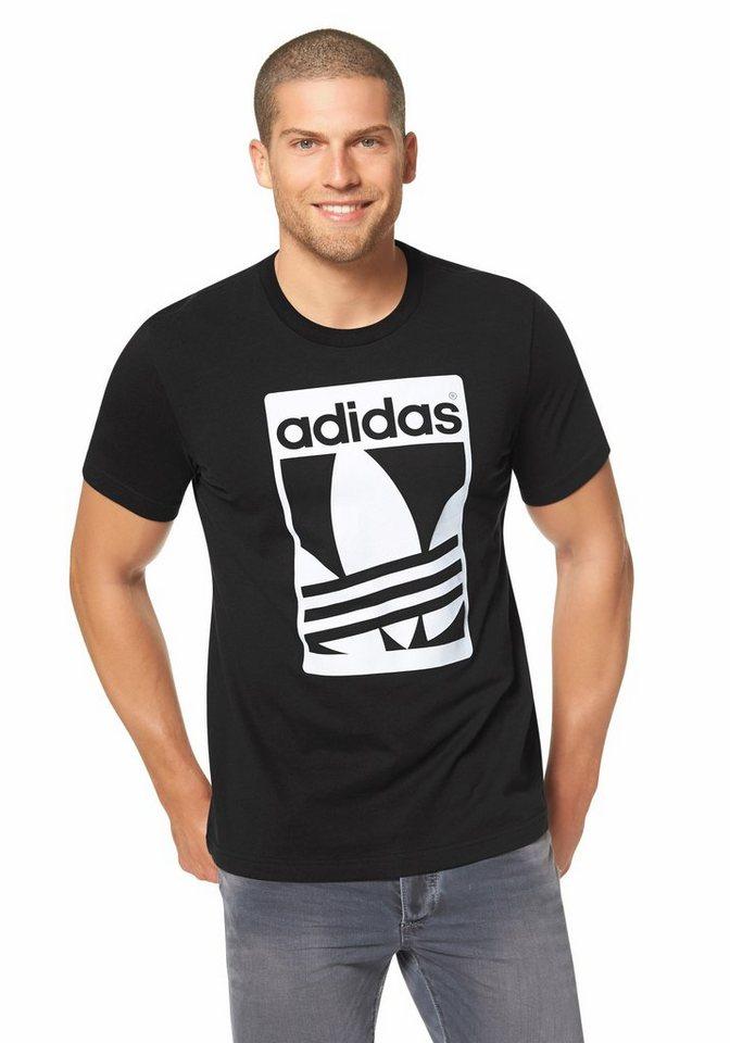 adidas Originals GRAPH STRIPE TEE T-Shirt in Schwarz