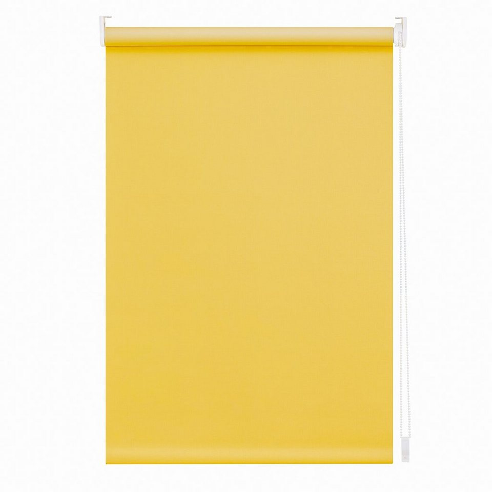 Seitenzugrollo, Lichtblick, Lichtschutz, Fixmaß in gelb