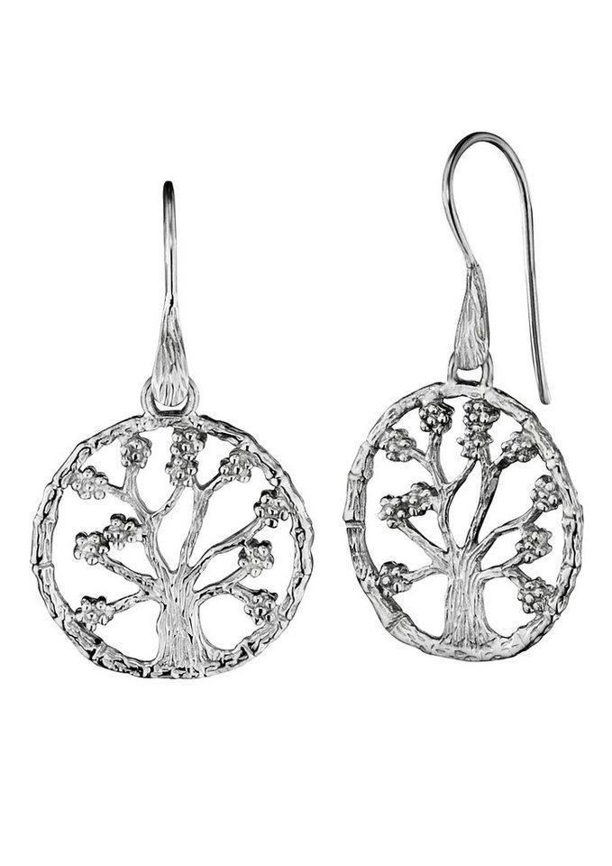 Paar Ohrhaken, »Lebensbaum, JJER8723.1«, Julie Julsen in Silber 925