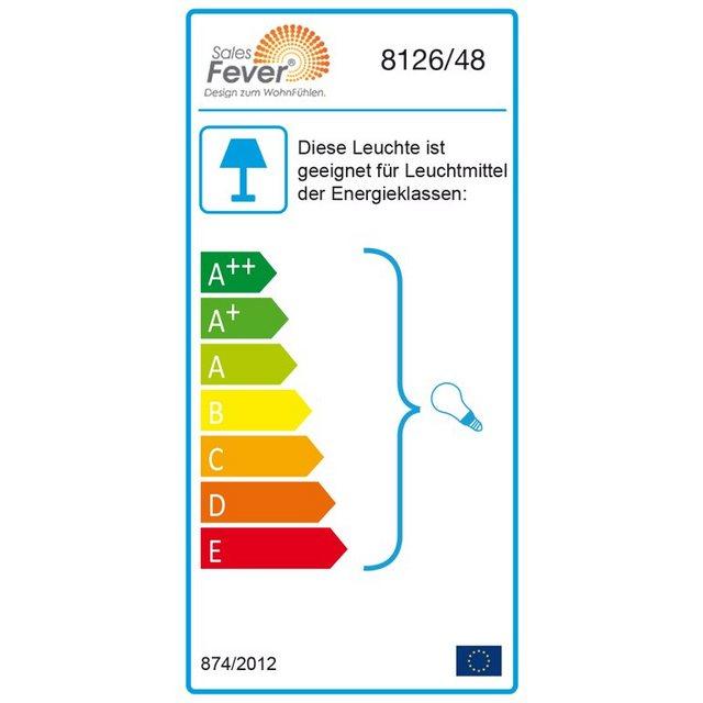 SalesFever Hängeleuchte mit 2 Lampenschirm grau Bitumen grau | 04250268317891