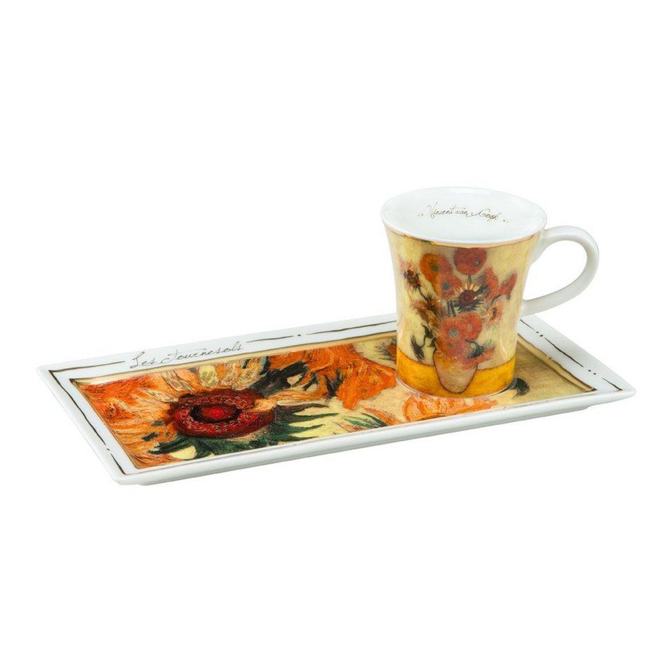 Goebel Die Sonnenblumen - Espresso Set »Artis Orbis« in Bunt