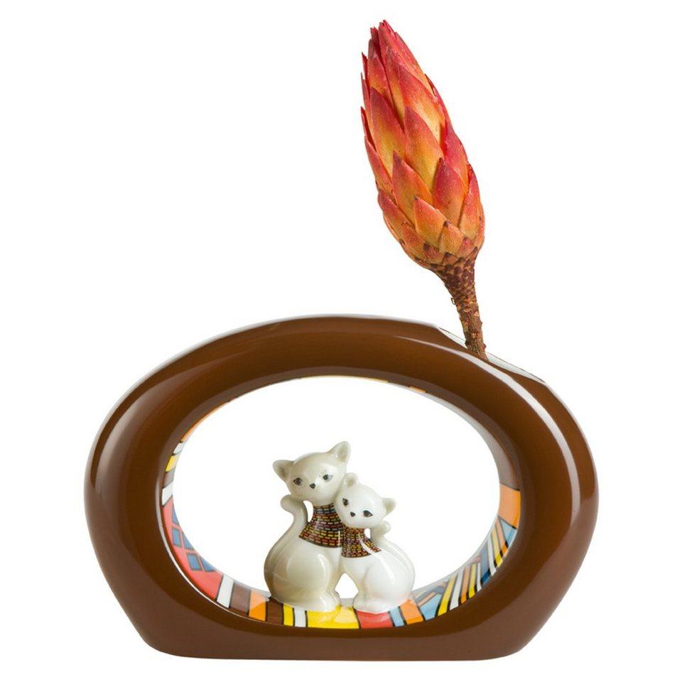 Goebel African Kitty - Vase »Kitty de luxe« in Bunt