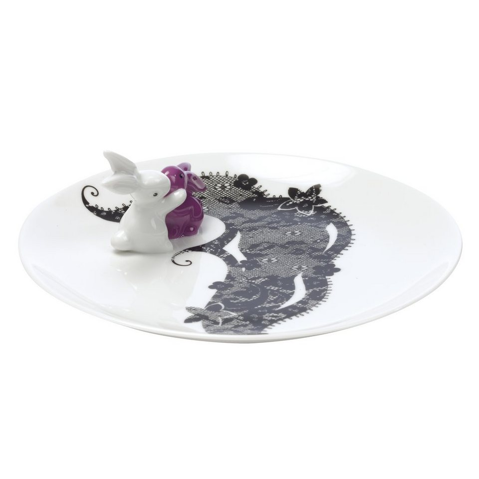 Goebel Frilly Bunny - Teller »Bunny de luxe« in Bunt