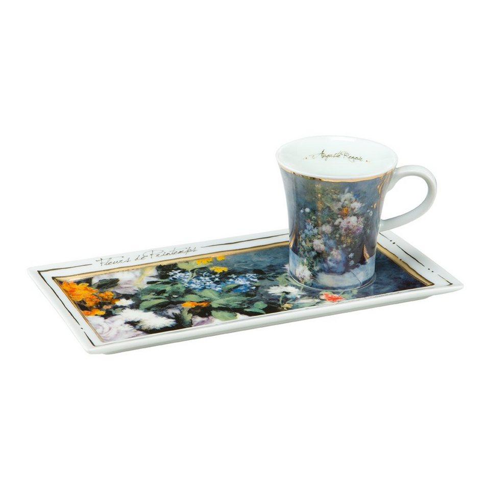 Goebel Frühlingsblumen - Espresso Set »Artis Orbis« in Bunt