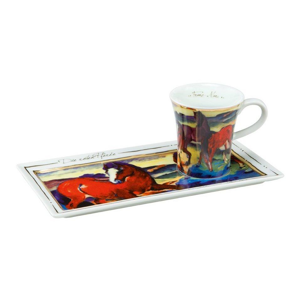 Goebel Die roten Pferde - Espresso Set »Artis Orbis« in Bunt