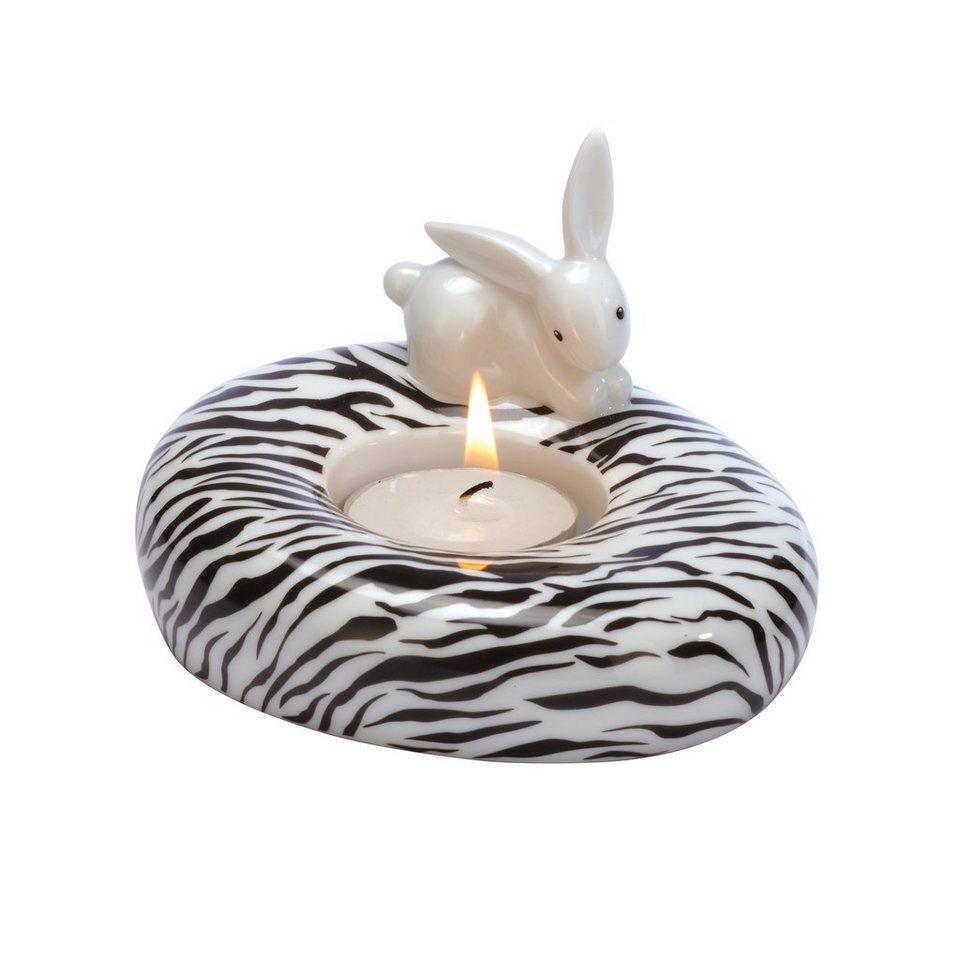 Goebel Zebra Bunny - Teelichthalter »Bunny de luxe« in Bunt