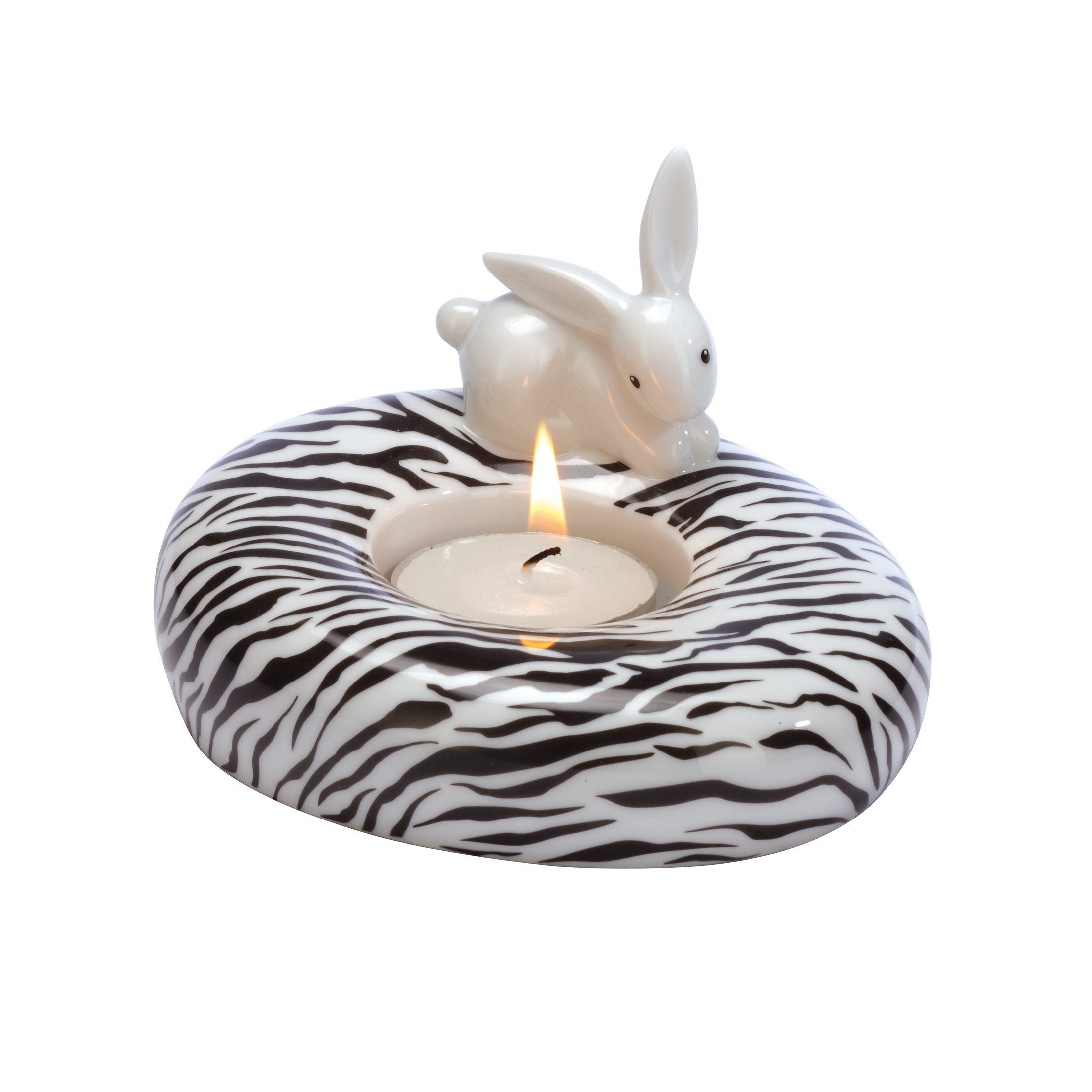 Goebel Zebra Bunny - Teelichthalter »Bunny de luxe«
