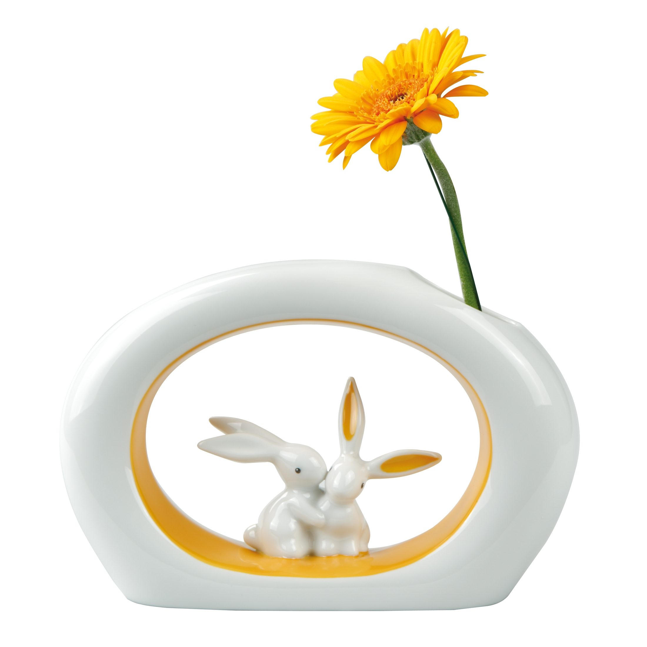 Goebel Orange Sunrise Bunny - Vase »Bunny de luxe«