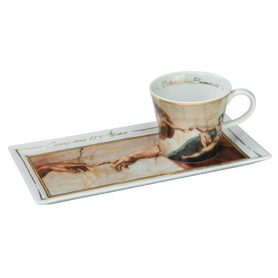 Goebel Die Erschaffung Adams - Kaffee Set »Artis Orbis« in Bunt