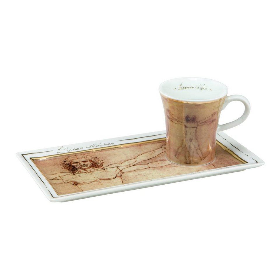 Goebel Der vitruvianische Mensch - Espresso Set »Artis Orbis« in Bunt