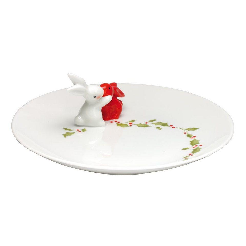 Goebel X-mas Bunny - Porzellanteller »Bunny de luxe« in Bunt