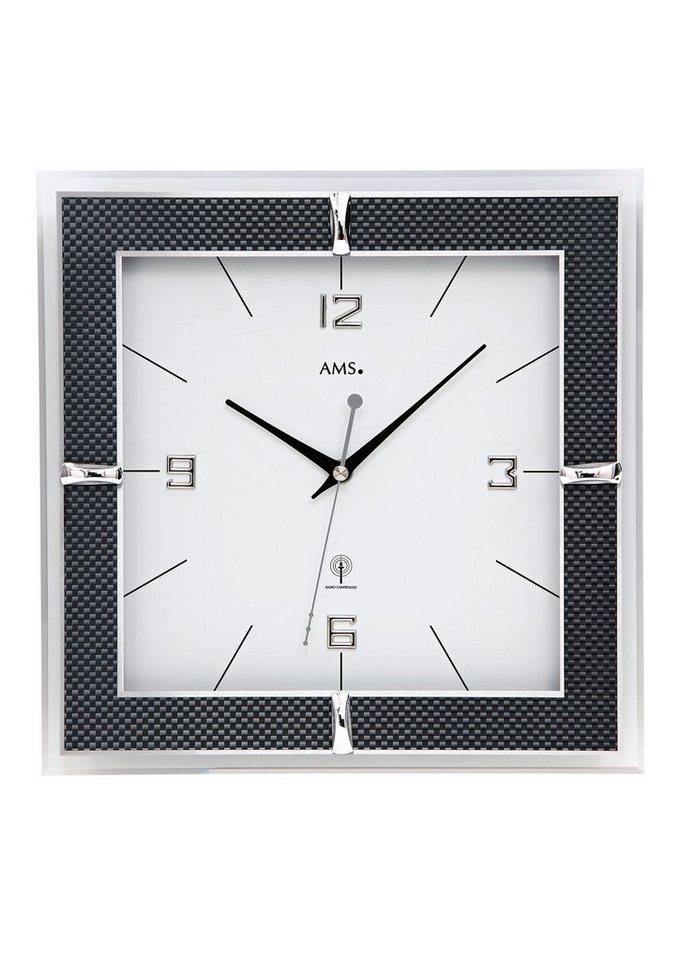 Funk-Wanduhr, »F5855«, AMS in weiß-schwarz