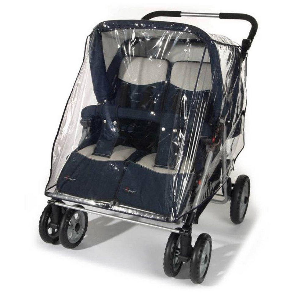 REER PEVA Regenschutz für Zwillingskinderwagen in transparent