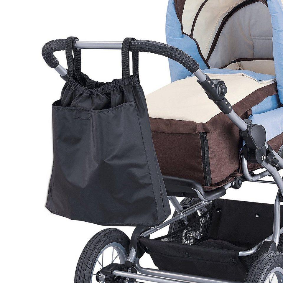 reer Einkaufstasche 2in1 für Kinderwagen und Buggy in schwarz