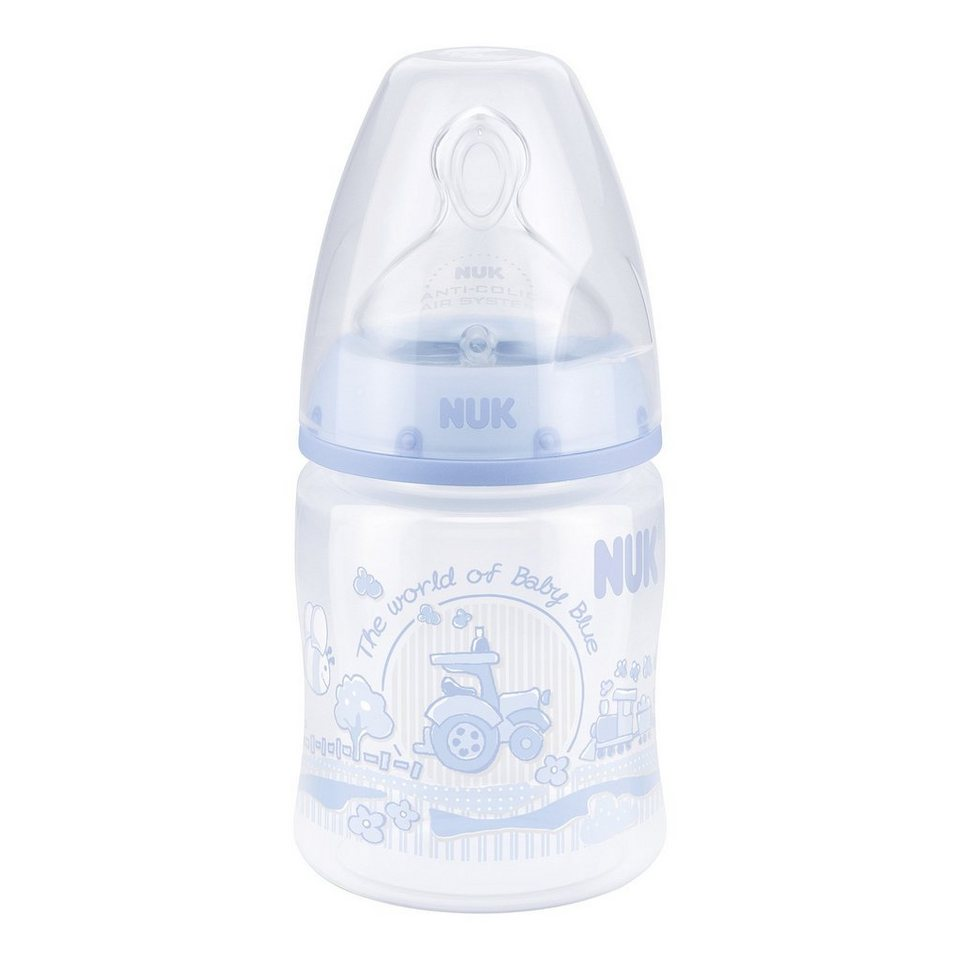 NUK Baby Blue FIRST CHOICE+ Babyflasche in blau