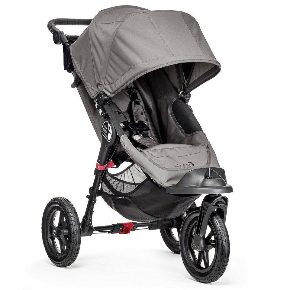 BABYJOGGER City Elite® Einer 3 Rad Kinderwagen mit Handbremse in Grey