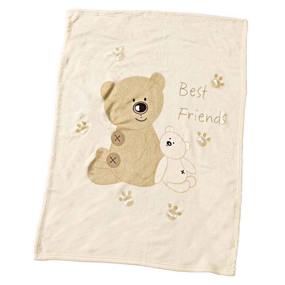 ALVI Babydecke Best Friends 75x100 cm in beige