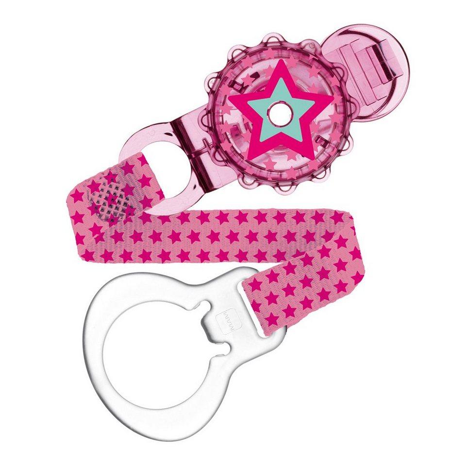 MAM Schnullerband Twist Clip in pink
