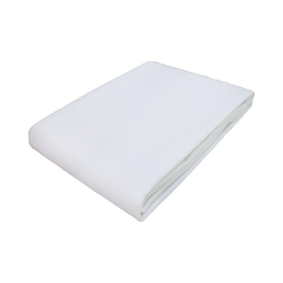 TRÄUMELAND Molton-Matratzenauflage 50x70 cm wasserdicht in weiß