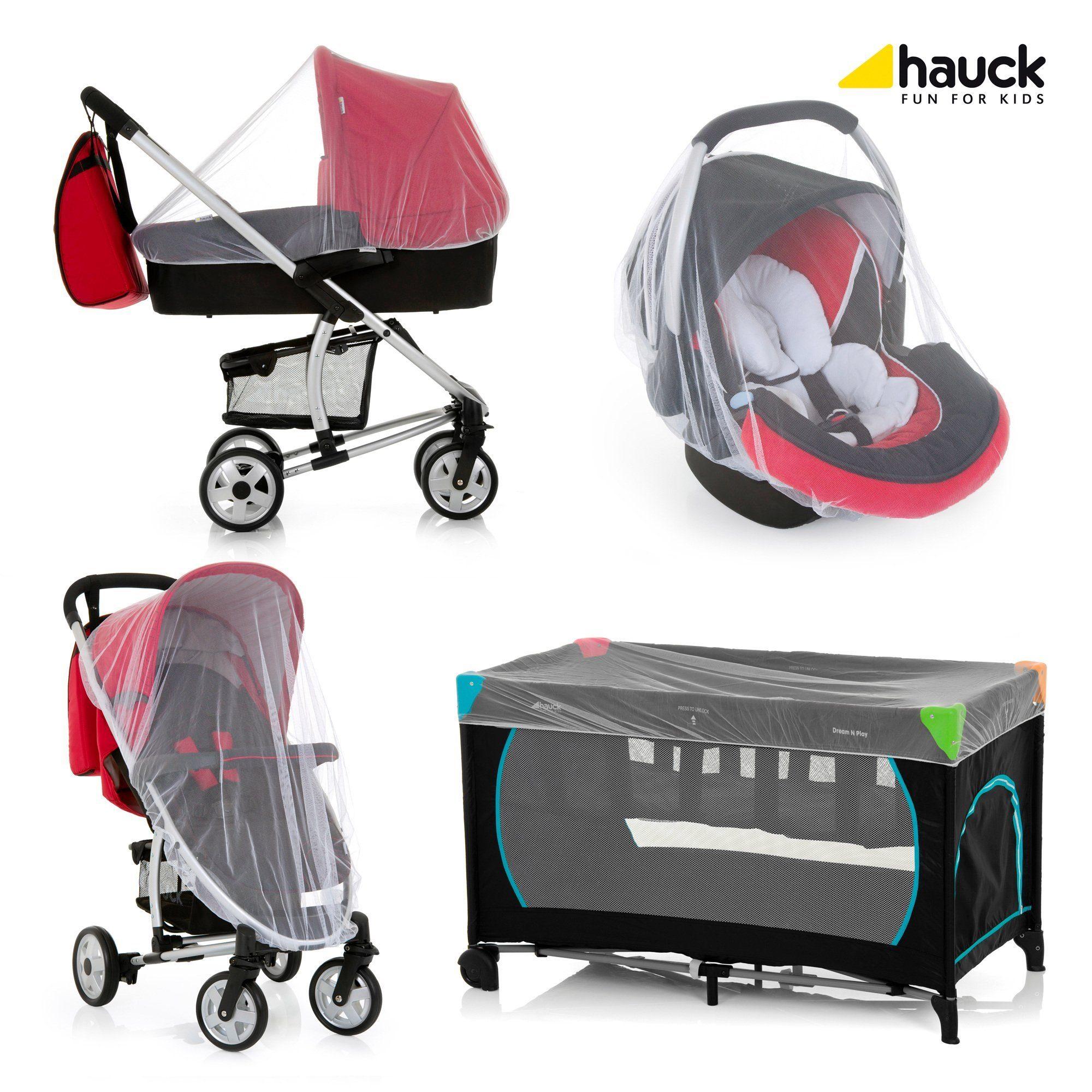 Hauck Universal-Moskitonetz Protect me für Babyschale, Reisbett...