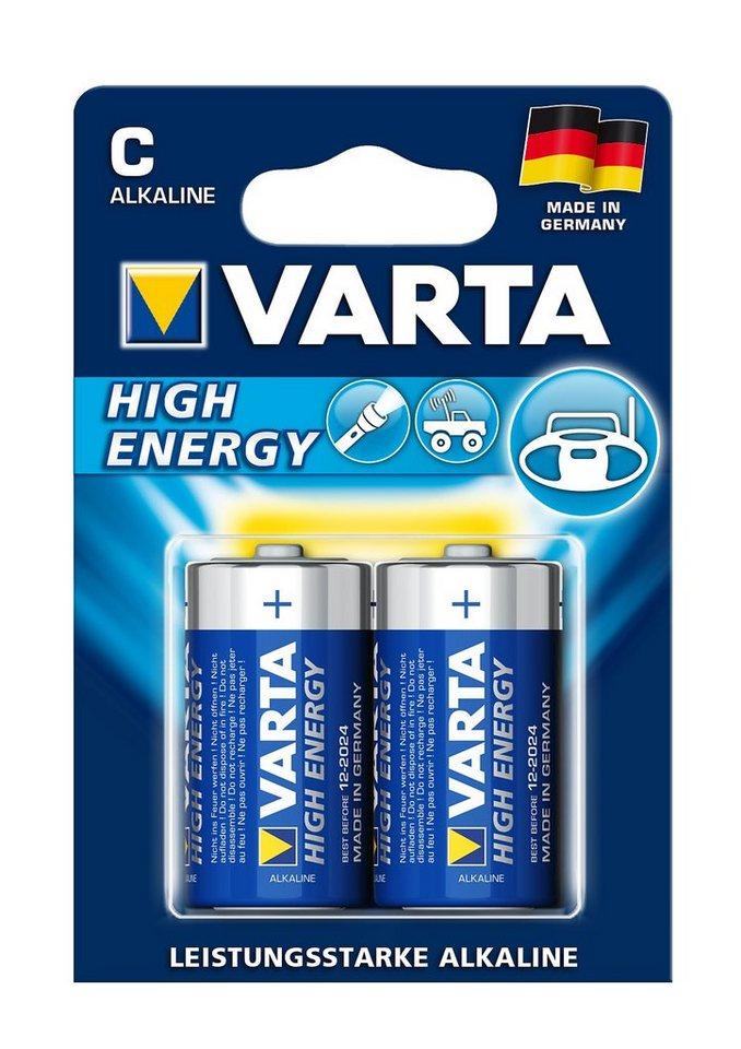 Batterien, Varta, »High Energy, Baby / C / LR14« (2 Stck.)
