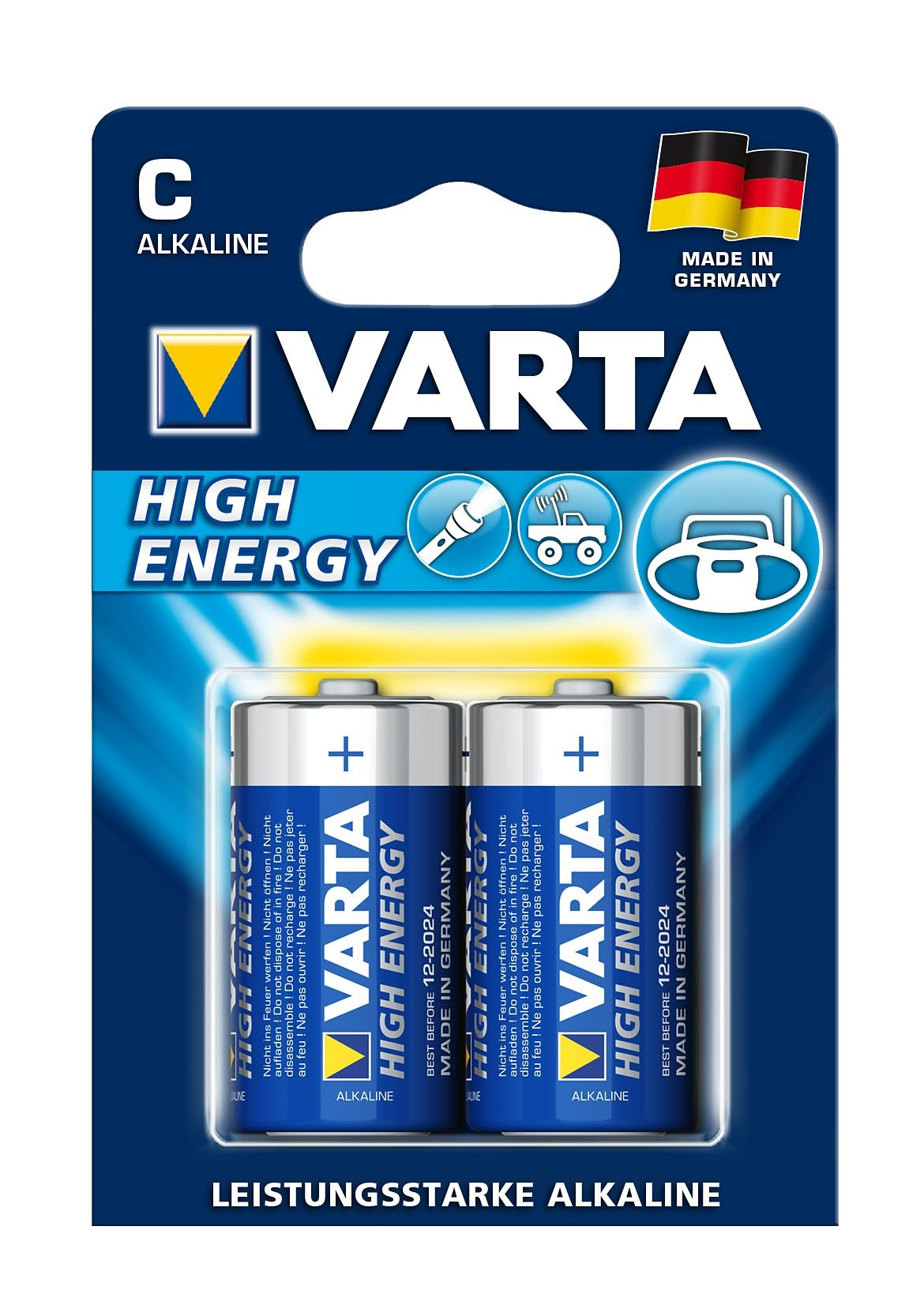 Varta, Batterien, »High Energy, Baby / C / LR14« (2 Stck.)