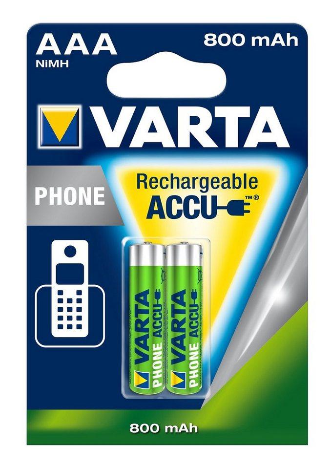 Varta, Akku für Schnurlostelefon, »Professional Phone Power Accu, Micro / AAA / R03« (2 Stck.)