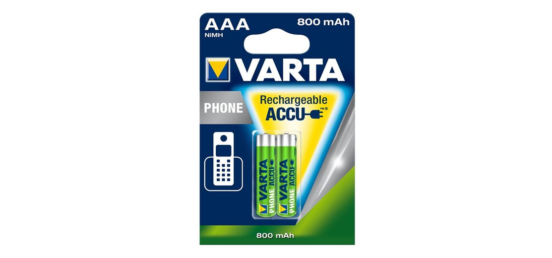Akku für Schnurlostelefon, Varta, »Professional Phone Power Accu, Micro / AAA / R03« (2 Stck.)