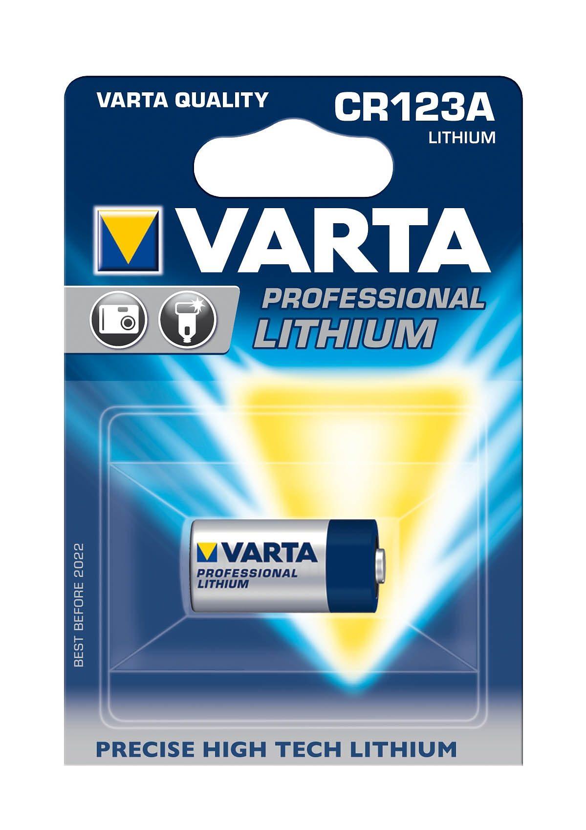 Batterie, Varta, »Professional Lithium, CR123A / CR17345« (1 Stck.)