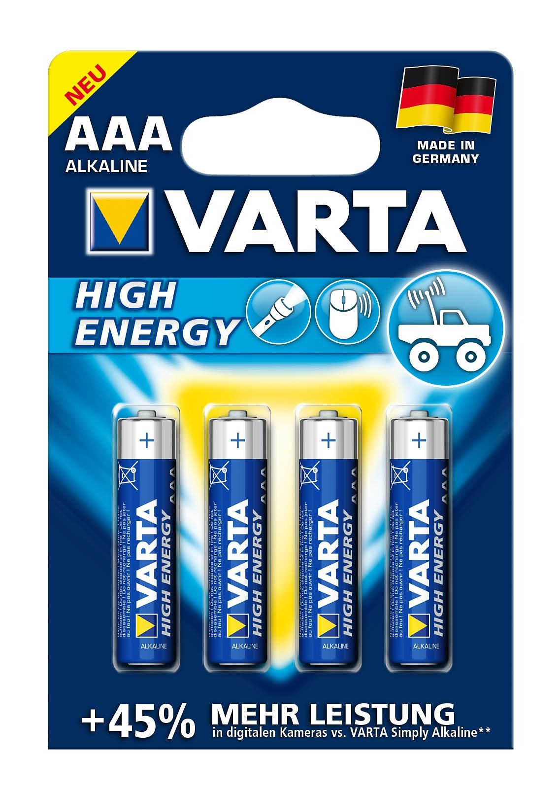 Varta, Batterien, »High Energy, Micro / AAA / LR03« (4 Stck.)