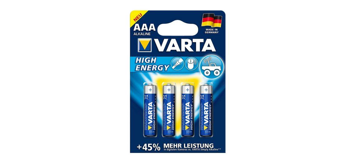 Batterien, Varta, »High Energy, Micro / AAA / LR03« (4 Stck.)