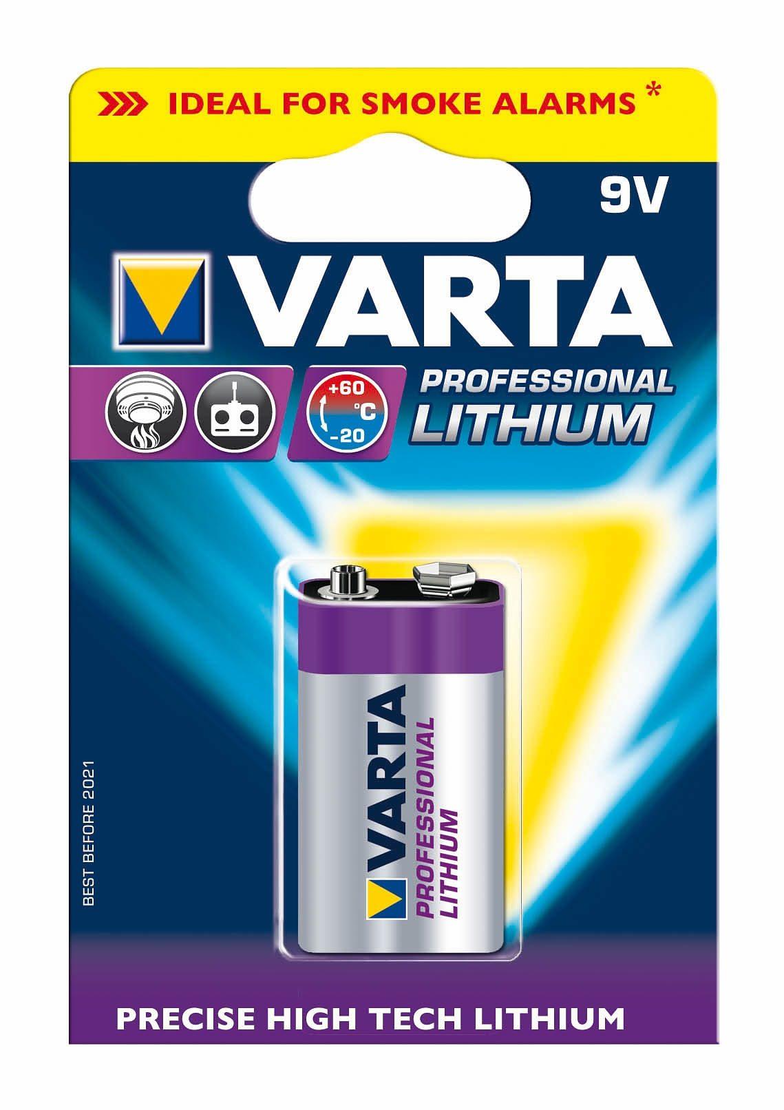 Varta, Batterie, »Professional Lithium, 9V Block« (1 Stck.)
