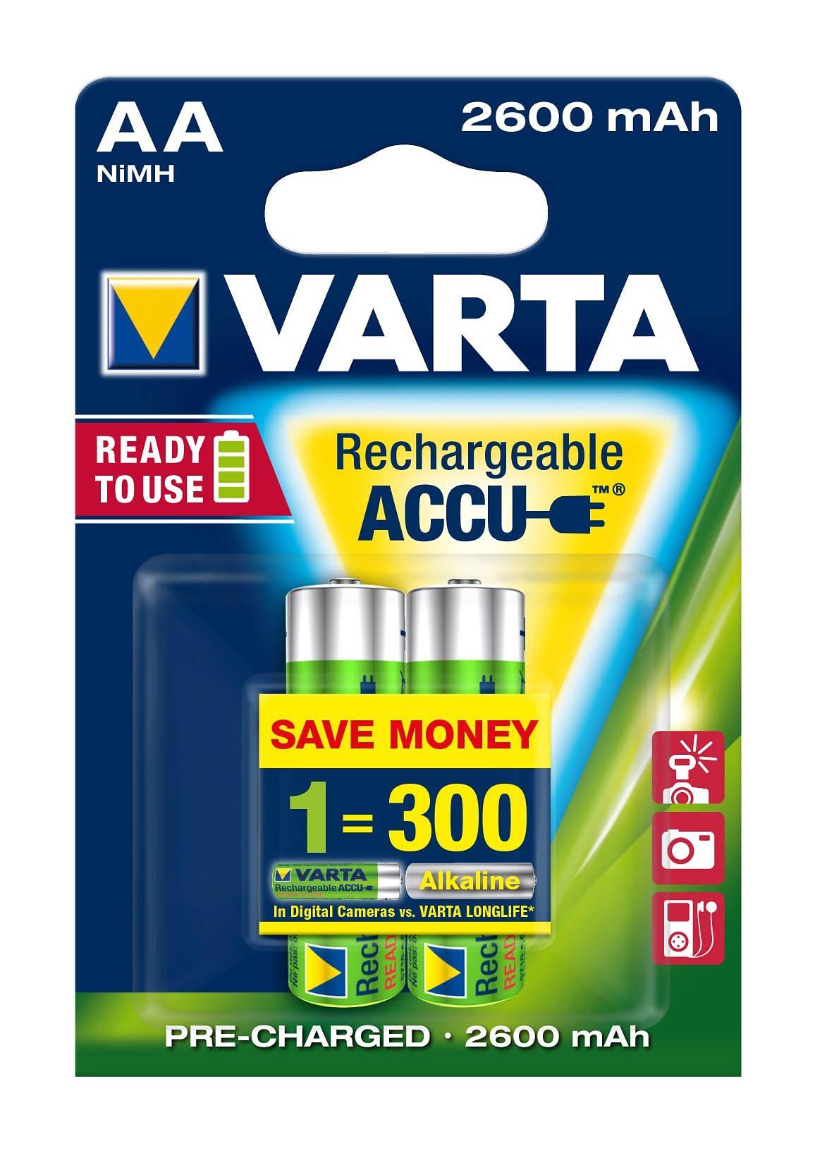 Varta, Akku, »Professional Accu, Mignon / AA / R6« (2 Stck.)