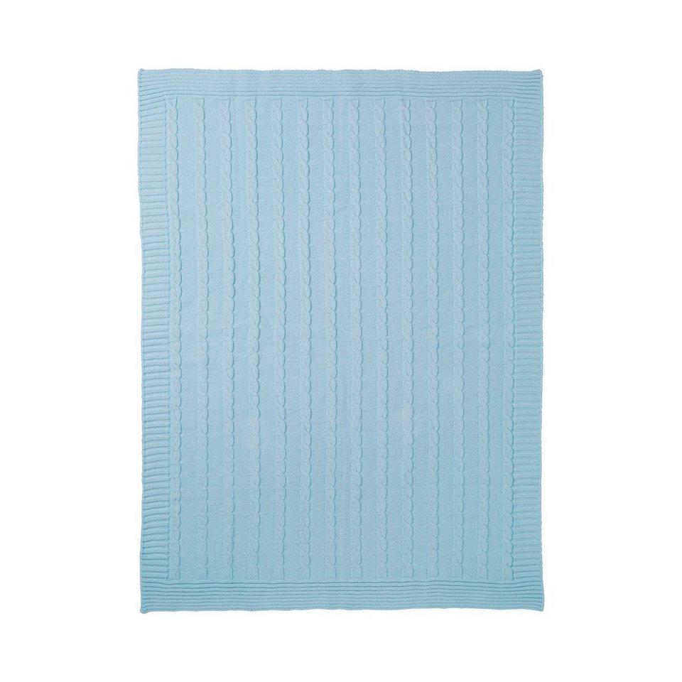 BORNINO HOME Babydecke 75x100 cm in blau
