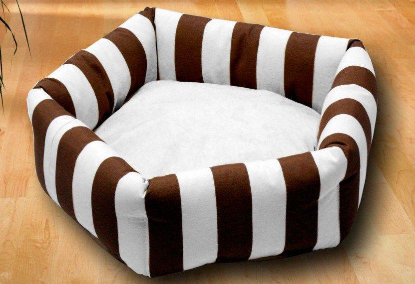 Hundebett und Katzenbett »Kuschelinsel« in braun/weiß