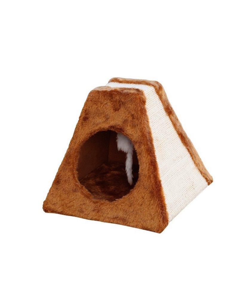 Katzenhöhle »Pyramide« in braun/beige