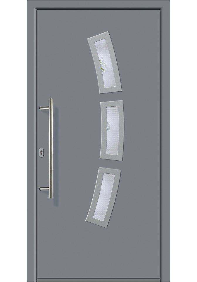 KM MEETH ZAUN GMBH Aluminium-Haustür »A07«, BxH: 98x198 cm, grau, in 2 Varianten in grau