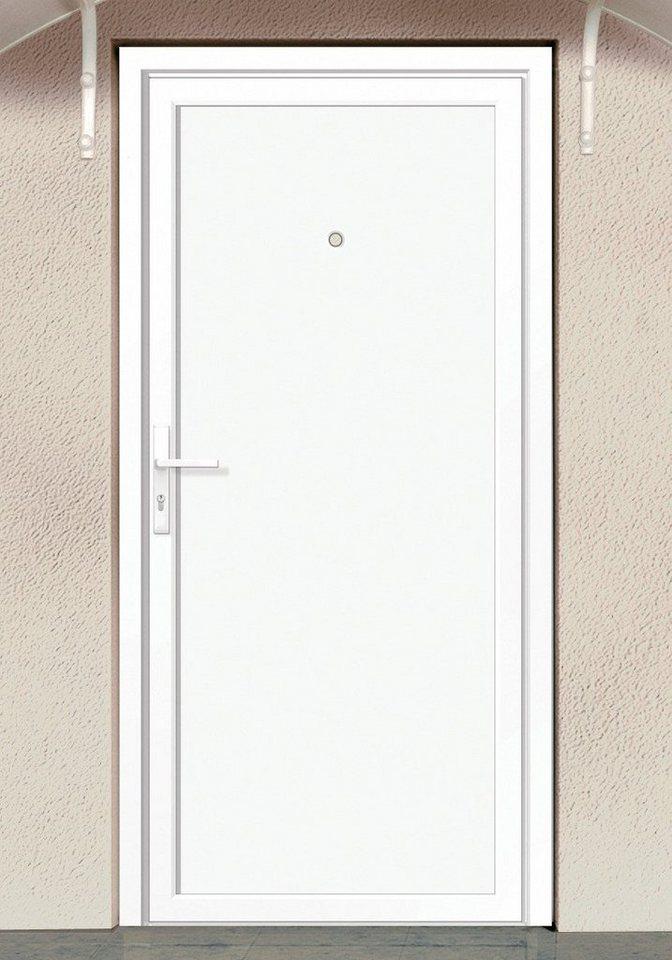 Nebeneingangstür »Marokko« BxH: 100 x 210 cm, weiß in weiß