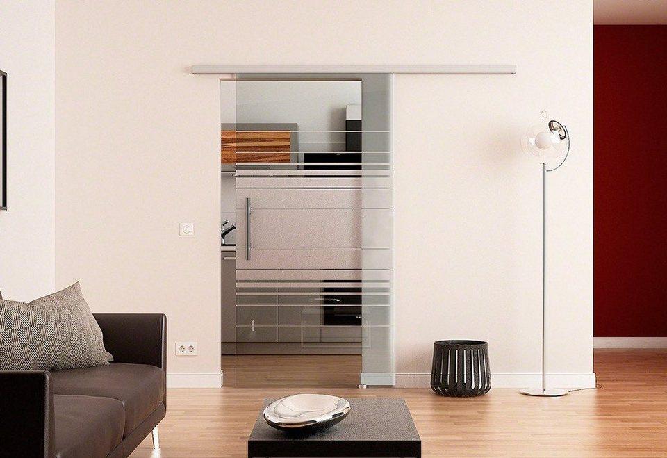 Glasschiebetür »Dorma Agile 50 Horizontal« in weiß