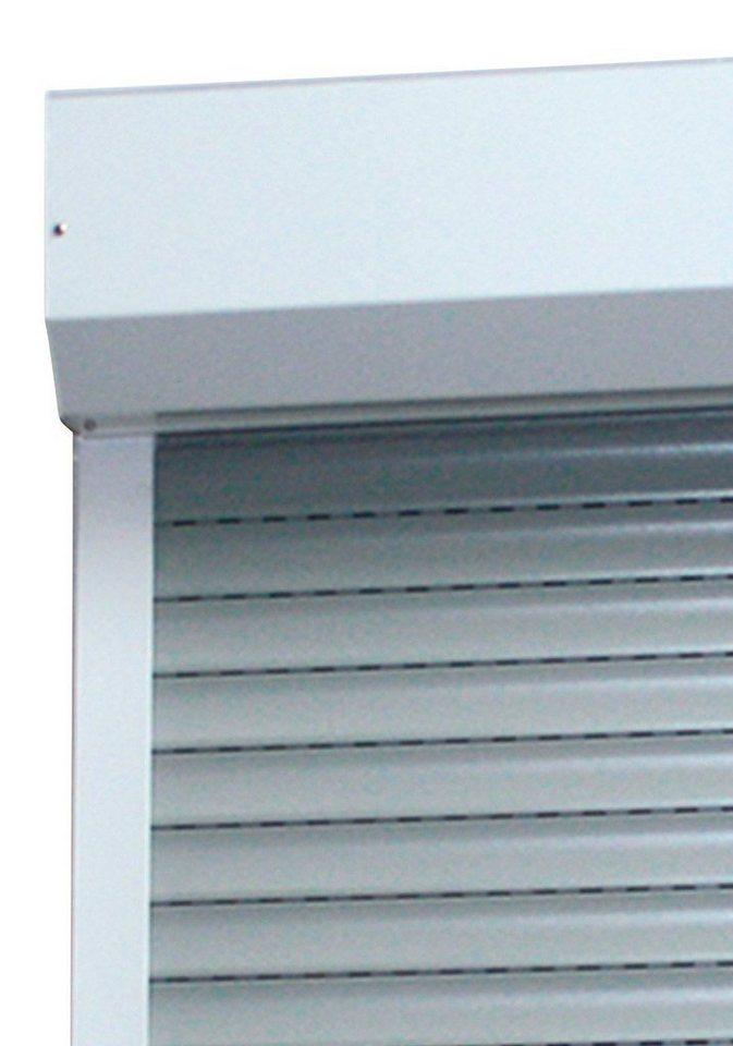 Alu-Rollladen »Vorbaurollladen«, B: nach Wunschmaß, H: 100 cm, in 4 Farben in weiß/grau