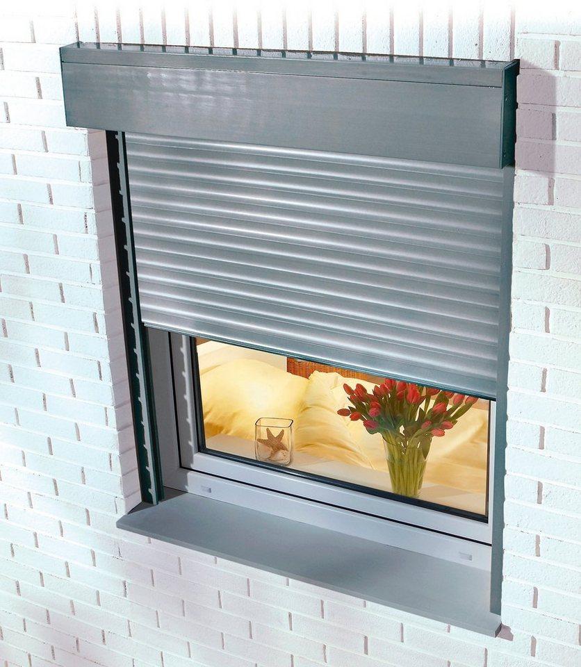 Aluminium »Vorbau-Rollladen« Sondermaß Breite, Höhe: 130 cm, in 4 Farben in weiß/grau
