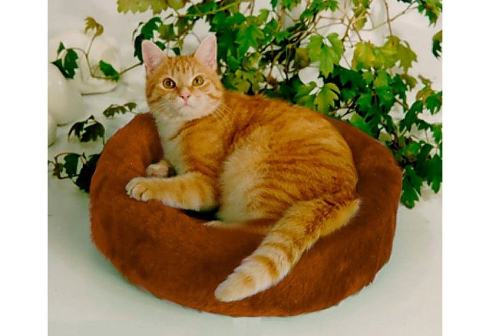Hundebett und Katzenbett »Plüsch« in braun