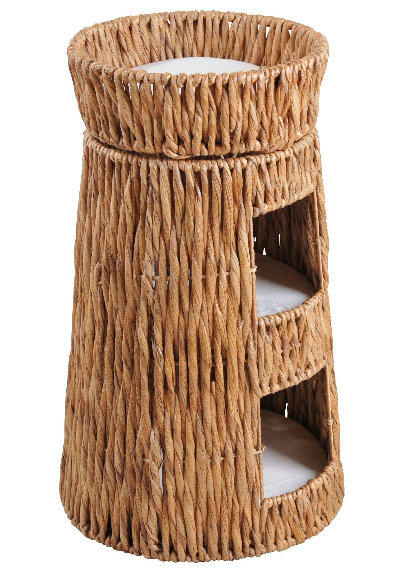 Silvio Design Katzen-Doppel-Korbturm »Wasserhyazinthe«