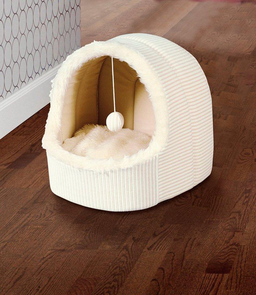 Katzenhöhle in weiß