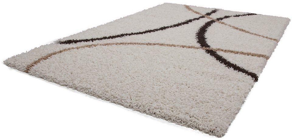 Hochflor-Teppich, Kayoom, »Twister 640«, Höhe 50 mm in Beige