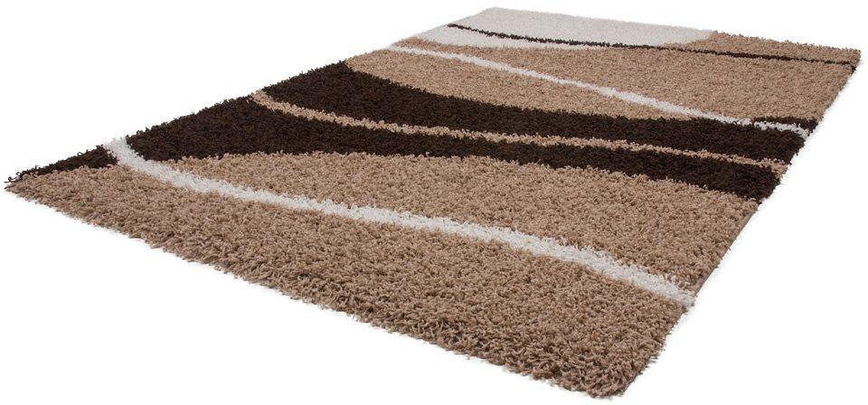 Hochflor-Teppich, Kayoom, »Twister 620«, Höhe 50 mm in Beige