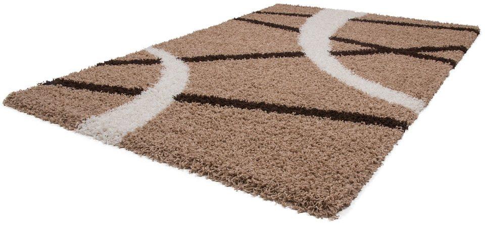 Hochflor-Teppich, Kayoom, »Twister 600«, Höhe 50 mm in Beige