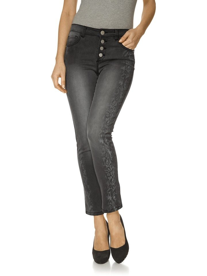 Bodyform-Push-up-Jeans in grey denim