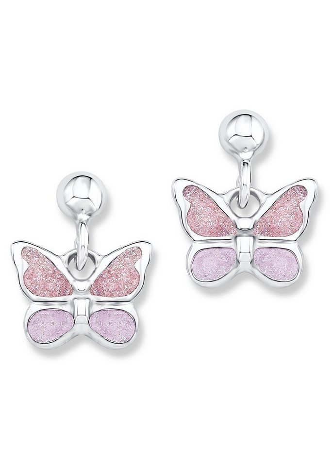 Paar Ohrstecker, »Schmetterling, PLFS/46«, Prinzessin Lillifee in Silber 925/rosa